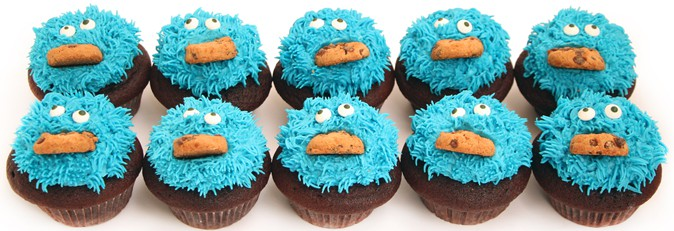 Cookie Monster Cupcakes2