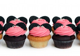 Pink Mouse Cupcakes