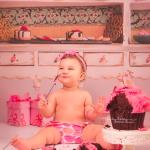 pink smash cake