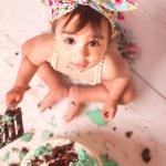 Turquoise smash cake